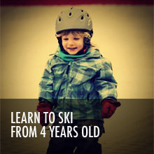 Learn to ski from 4 years old